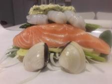 Oven Baked Salmon & Prawn En Papillote